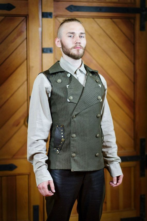 30% OFF Christmas SALE A Double-Breasted Steampunk Vest  made to order