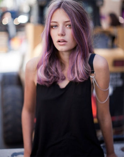 lilac: Purple Hair, Lilacs Ombre Hair, Care Purplehair, Natural Hairstyles With Color, Hair Colour Pastel, Natural Color, Brown Hair, Lilacs Hair Color, Fantasy Hair