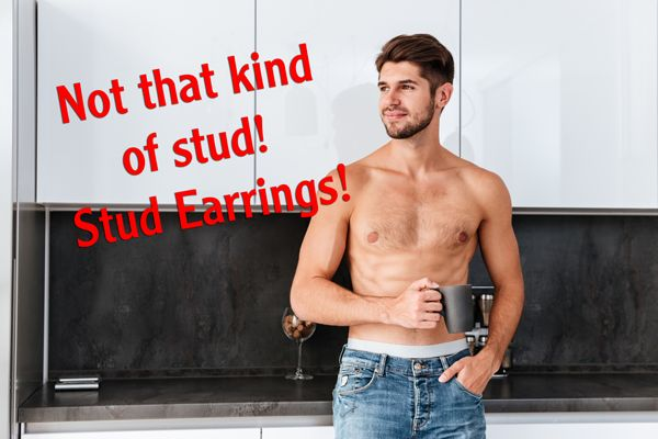 Get some studs! Fake or real, big or small, they will go with any colour, fabric, or style of cocktail dress and will never compete with other jewellery. #stud #earrings #studmuffin #jewellery