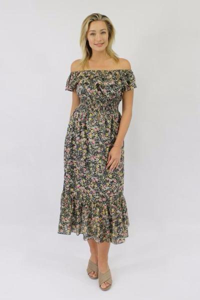 Jendi - 10-395 Floral Maxi Dress