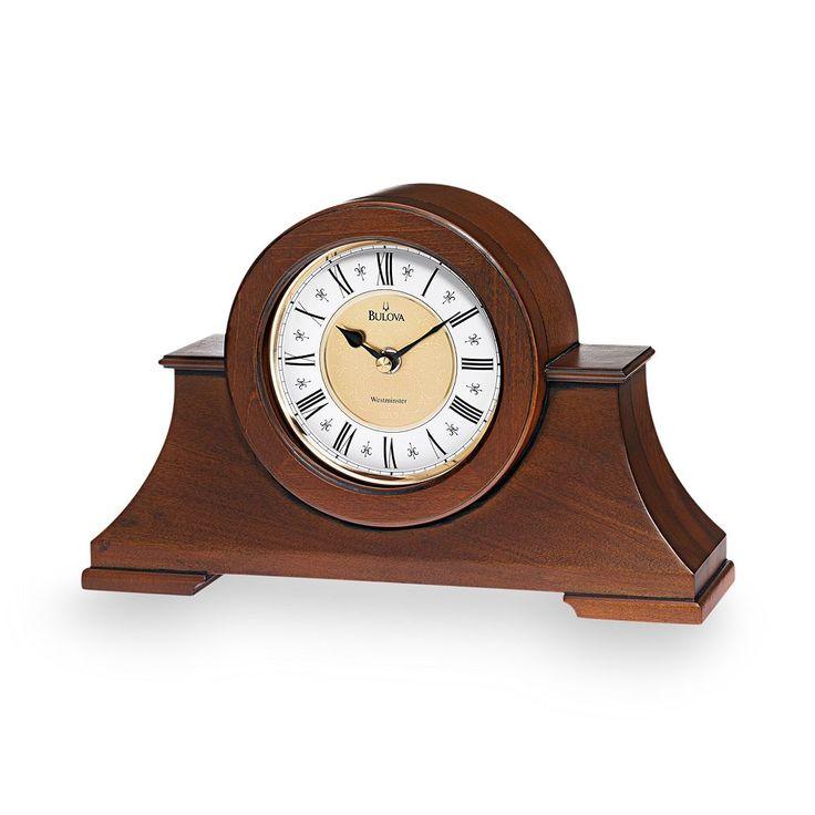 Bulova Cambria Wood Musical Mantel Clock - B1765, Brown