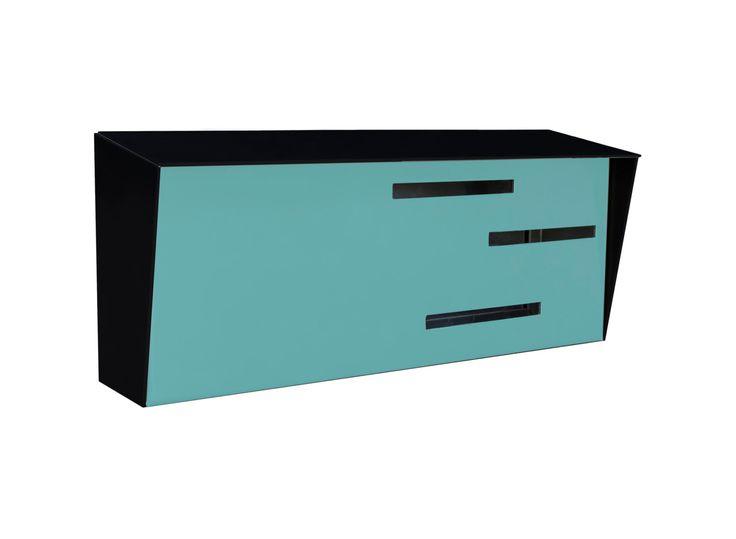 Mid Century Modern Mailbox | Modern Mailbox | Two Tone Black by ModernMailbox on Etsy https://www.etsy.com/listing/242664295/mid-century-modern-mailbox-modern