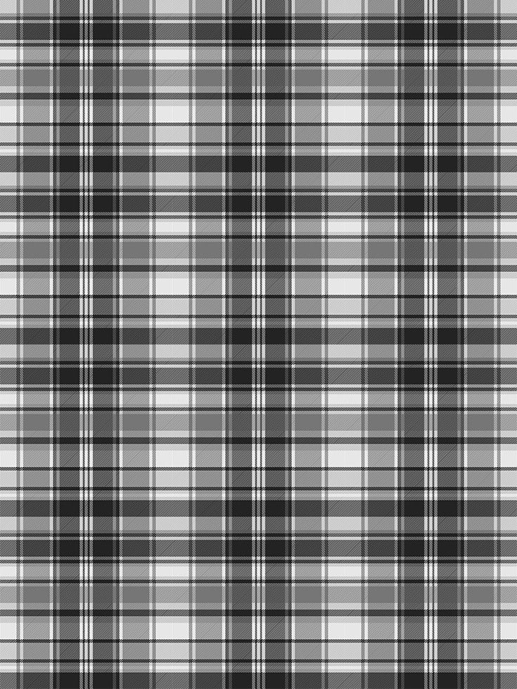 Grayscale Black And White Check Fabric Texture Seamless