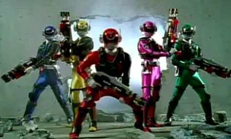 I searched for Power Rangers SPD Swat Weapons images on Bing and found this from http://www.popculturemusthave.com/2015/08/top-5-power-ranger-suits.html