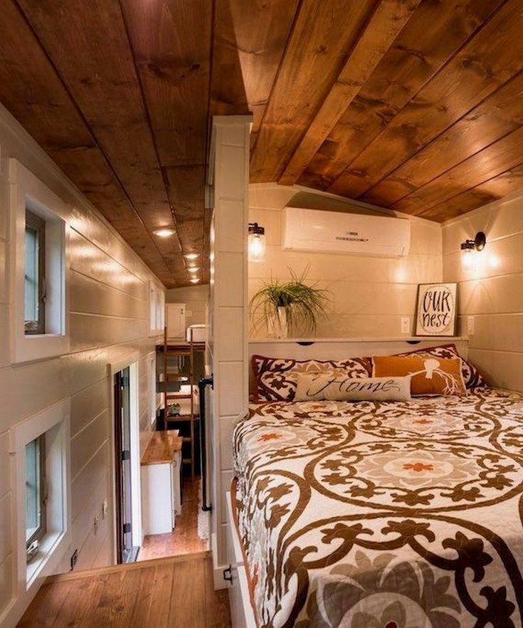 Tiny house layout  tips – Don't obtain a bed that is certainly too large for the bedroom. A very small room having a California king size bed can look small, and cramped. It will limit the quantity of room you may have left for other furniture without cluttering your space.