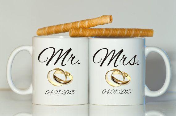 Mr Mrs Mug Bridal Shower Gift Wedding Mugs Anniversary And Anniversaries Pinterest