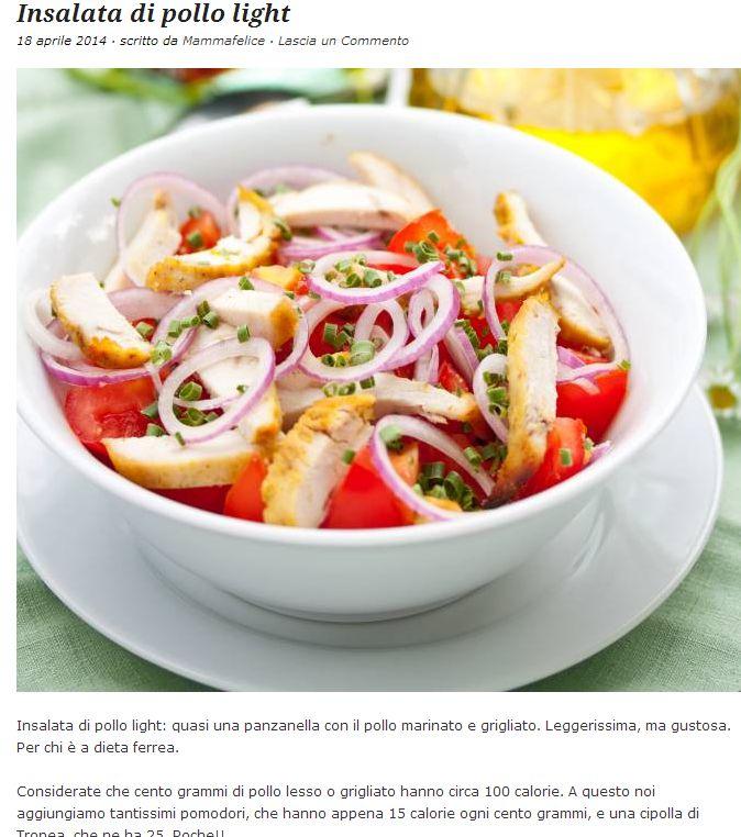 insala di pollo leggera. http://trashic.com/2014/04/insalata-di-pollo-light/
