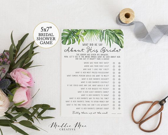 what did he say about his bride bridal shower guessing game easy shower games