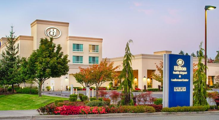 Hilton Seattle Airport & Conference Center SeaTac Across from Seattle Tacoma International Airport and only moments from the city centre, this hotel is ideally located close to numerous area attractions and features state-of-the-art amenities and accommodation.