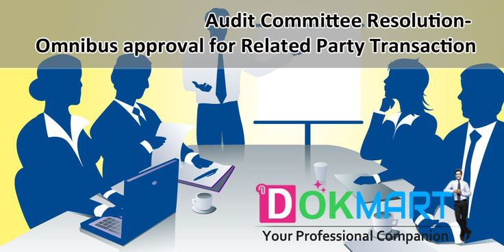 Draft of Audit Committee Resolution along with preamble for taking omnibus approval of committee members for transaction proposed to be entered by the Company with Related Party subject to fulfilling certain conditions.