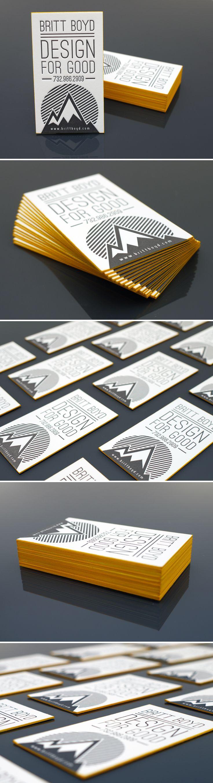 Design For Good // letterpress + edge print