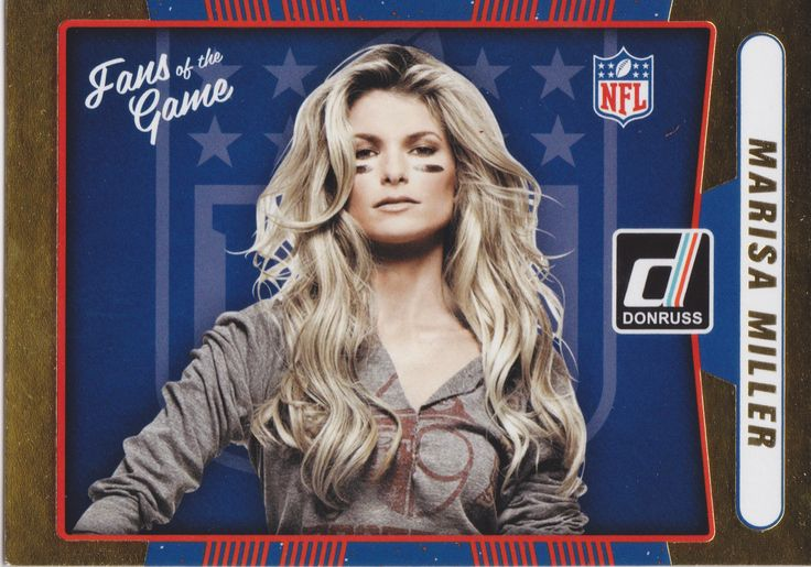 "Marisa Miller ""Fans of the Game"" Collectible Football Card - 2016 Donruss Football Card Supermodel"
