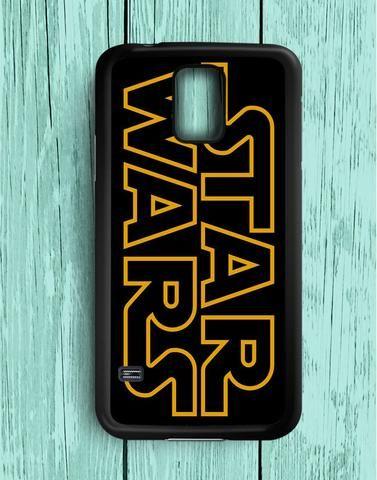 Yellow Line Font Star Wars Samsung Galaxy S5 Case