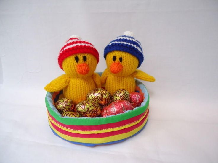 Easter Basket - Knitting creation by Kathy | Knit.Community