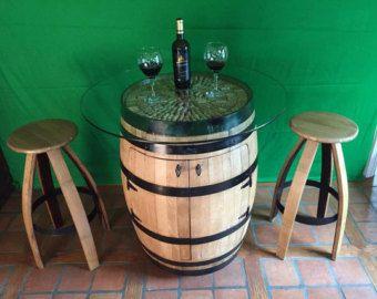 Demi barrique vin armoire meubles de par GreatWoodenCreations