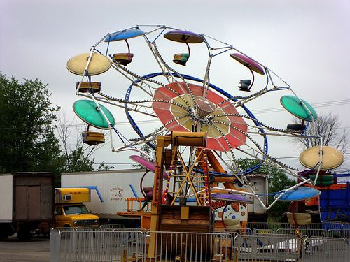 paratrooper midway ride at county fair | LOST in the 70s ...