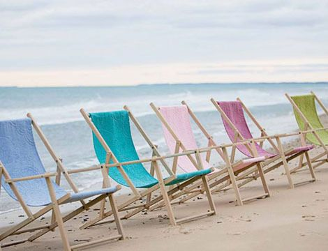 Soothing summer colors for these great beach chairs, love them!