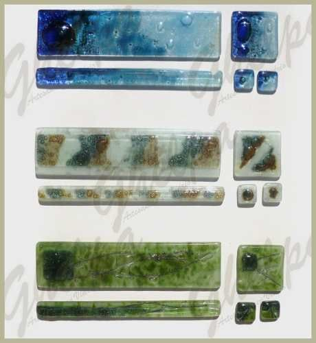 guardas artesanales de vidrio en vitrofusion ( por metro )