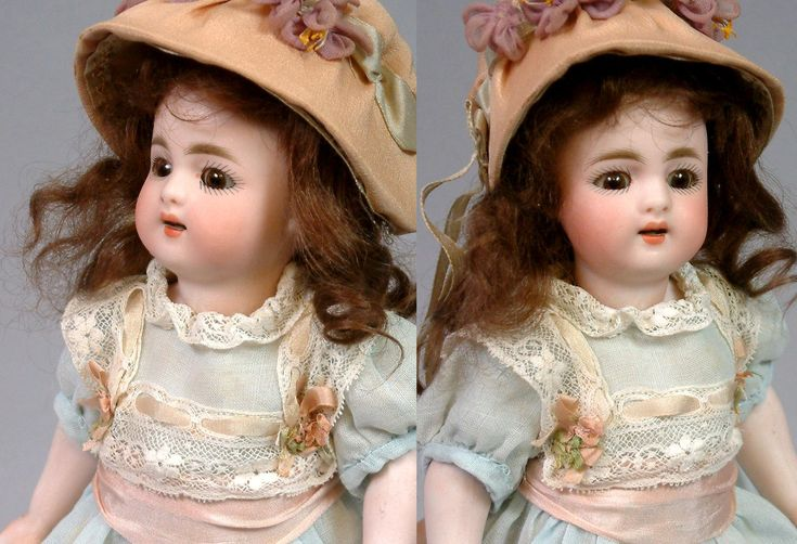 """RARE + LARGE 9"""" Simon & Halbig 886 Character All Bisque With Long Blue Stockings"""