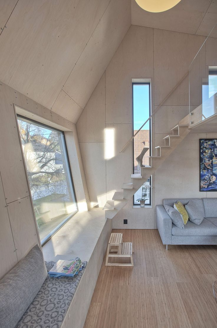 Arne Garborgsvei 18 House by TYIN Tegnestue 9 Asymmetric Modern House in Norway for a Family of Four