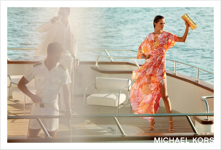 Out on the sun deck. Michael Kors Resort 2008