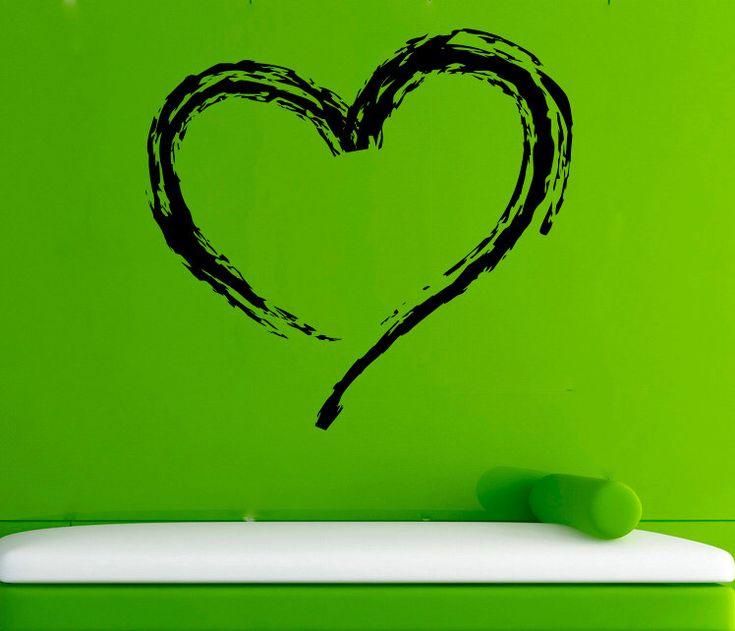 Love Heart Wall Sticker Romantic Heart Vinyl Decal Vinyl Murals Wall Vinyl Decor /10agl/ by AndreadecalS on Etsy https://www.etsy.com/listing/269781919/love-heart-wall-sticker-romantic-heart