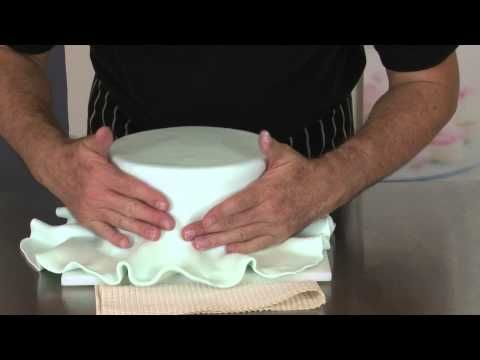 Covering Your Cake Part 4 - Getting Sharp Edges - YouTube