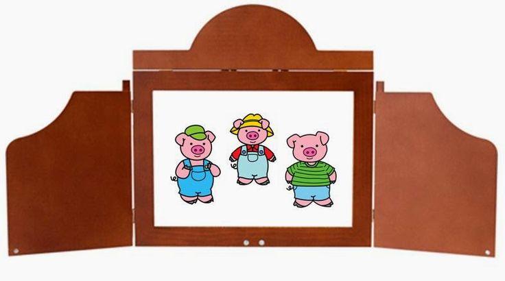 """Aquí os dejo el Kamishibai de """"Los tres cerditos"""".      Podéis descargarlo aquí:           Por si todavía no los habéis visto, ya tenemos en..."""