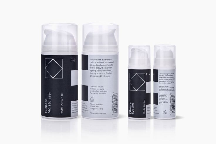 Logo, branding and packaging by Glasgow-based Freytag Anderson for Scottish unisex skincare range Filmore