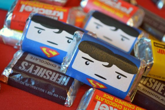 INSTANT DOWNLOAD Printable Superhero Miniature Candy Bar Wraps
