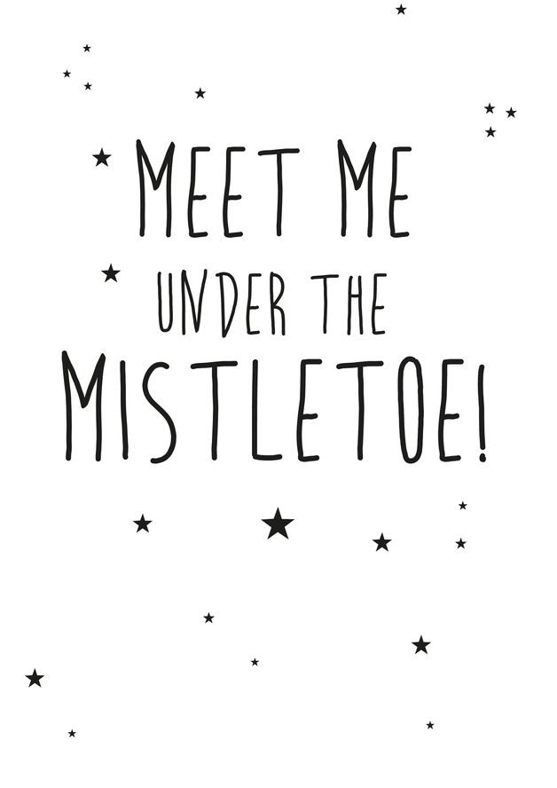 Meet me under the mistletoe ❥