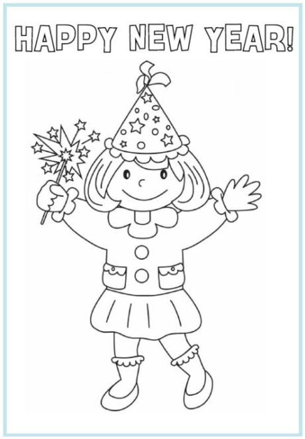 new year's coloring pages | New Year Coloring Pages Picture 10 – Printable Happy New Years ...