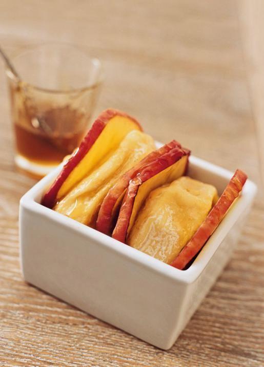 Μήλο+με+τυρί+και+μέλι+καστανιάς