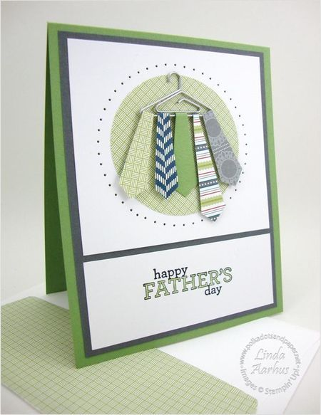 "Love this spin on the traditional ""tie"" card for dad - putting the tie..."