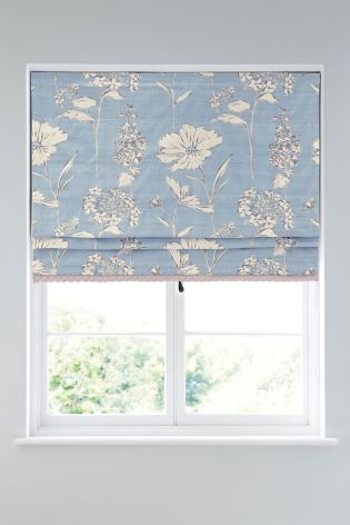 Buy Powder Blue Country Floral Roman Blind from the Next UK online shop
