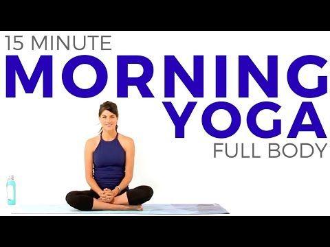 15 minute Morning Yoga Routine | Full Body Yoga Flow - YouTube