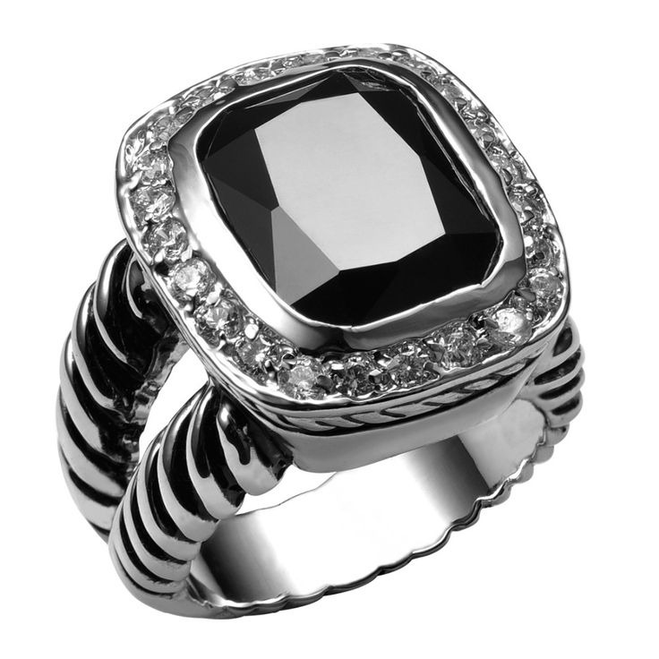 Hot Sale Black onyx 925 Sterling Silver High Quantity Ring For Men and Women Fashion Jewelry Party Gift Size 6 7 8 9 10 F1460