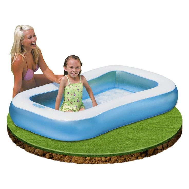 Intex Inflatable Rectangle Paddling Pool Childrens Kids Garden Blow-up