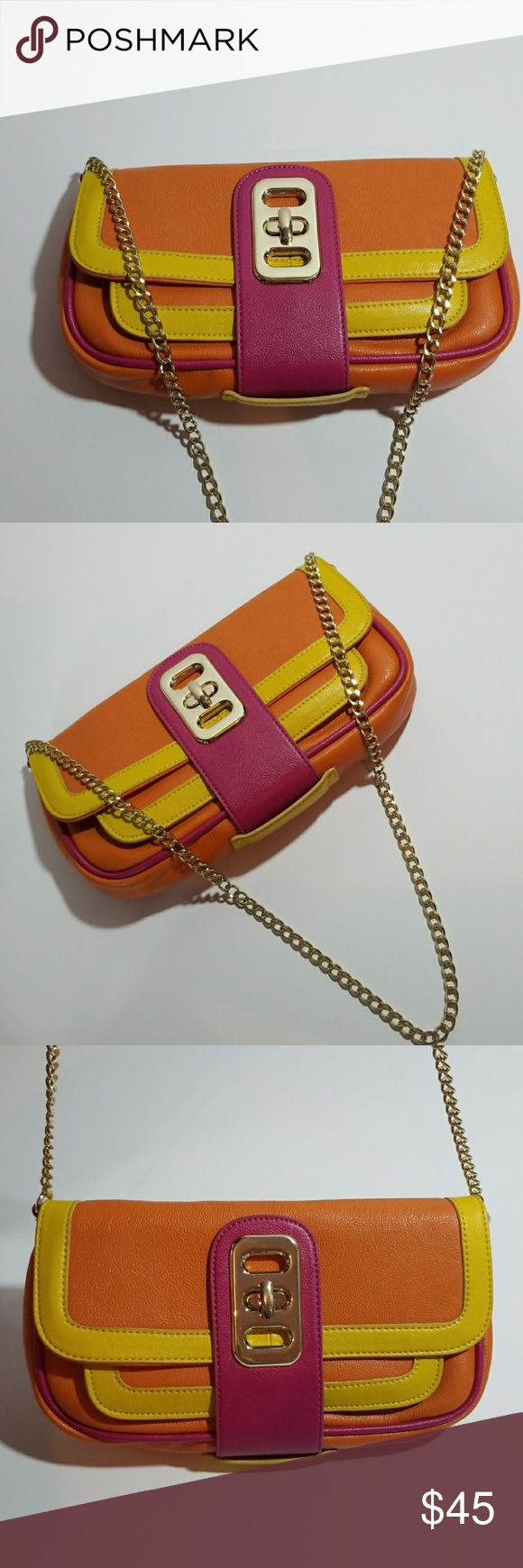 🎈SALE💰 ⬇ALDO Multi-Colored Shoulder Bag-Like New This ALDO Multi-Colored Shoulder Bag (Like New) is yellow, pink, and orange with gold hardware and chain and inscribed ALDO nameplates. Aldo Bags Shoulder Bags