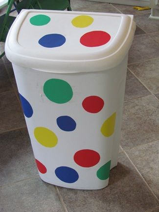 A fun way to spruce up an old plain trashcan