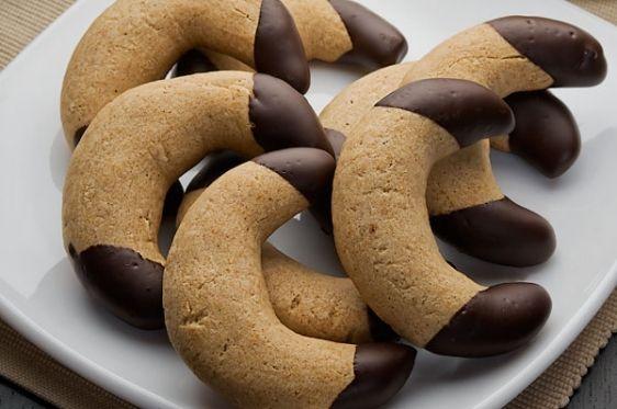 Κουλουράκια+μελιού+βουτηγμένα+σε+σοκολάτα
