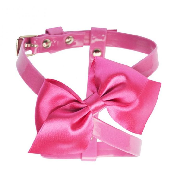 Cleo #dog pink #harness made of ecoleather and satin bow #Chic4Dog
