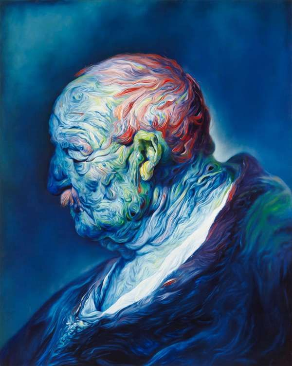 Glenn Brown Depicts Humans with Patches and Swirls of Paint #psychedelicart trendhunter.com