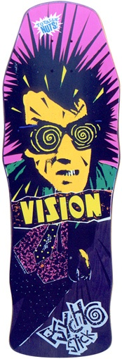 Old school skateboard graphics