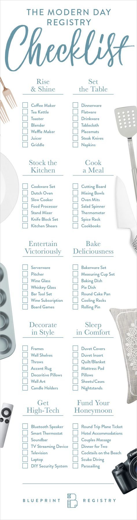 Wedding Gift Registry Checklist : ... Wedding registry list, Wedding gift registry and Wedding registry