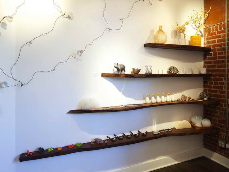 Exciting Shelving Unit Ideas With Wood Open Shelves: Excellent Log Wood  Floating Shelving Unit Ideas For Artworks Crafts Display For Small Space  Furnishing ...