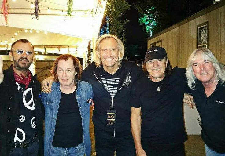 Ringo Starr, Angus Young, Joe Walsh, Brian Johnson and Cliff Williams.