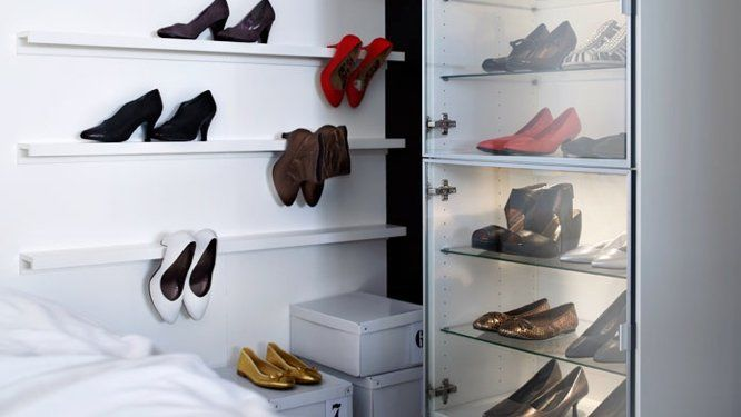 Range chaussures mural ikea shoes addict pinterest for Ikea meuble chaussure mural
