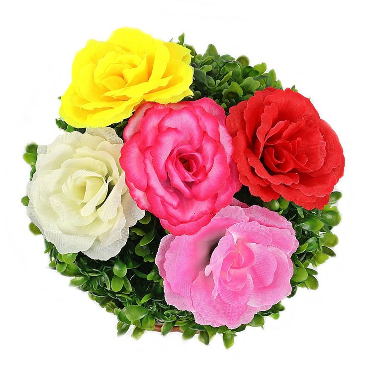 Botões de Rosa de Seda - 24 unidades - Diversas Cores