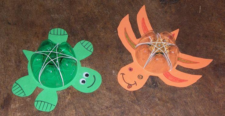 Une activité manuelle pour les grands : fabriquer une tortue rigolote !!